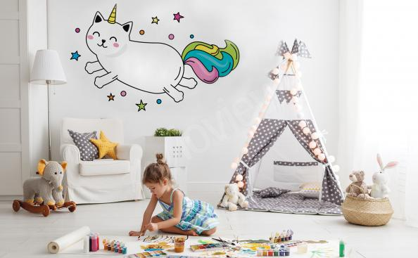 Cat sticker for children