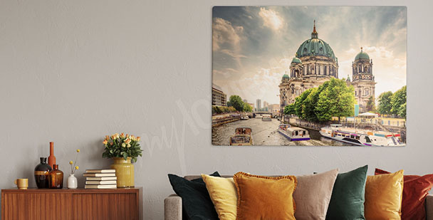 Cathedral by the river canvas print