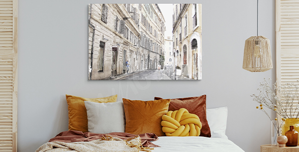 City alley canvas print