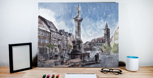 City architecture canvas print