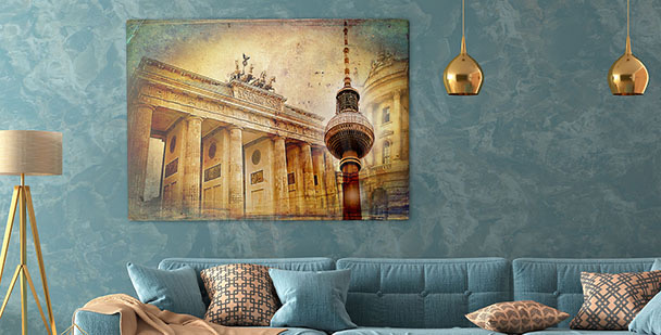 City architecture canvas print