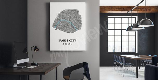 City map canvas print