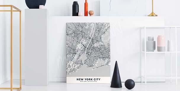 City plan canvas print