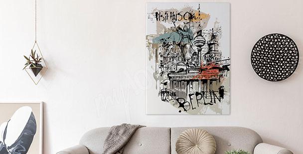 City symbols canvas print