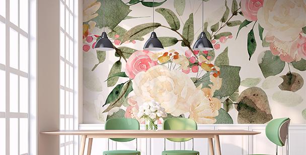 Classic roses mural