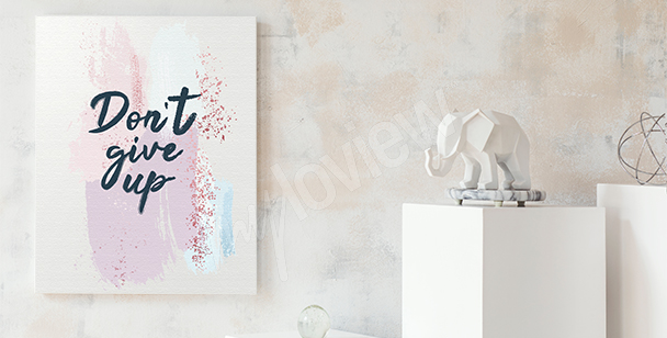 Clear message canvas print