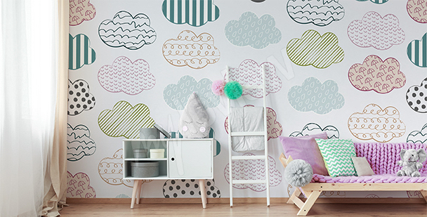 Color mural for girl's room