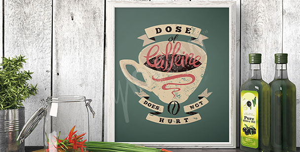 Coffee cup poster for the kitchen