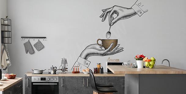 Coffee in hand sticker