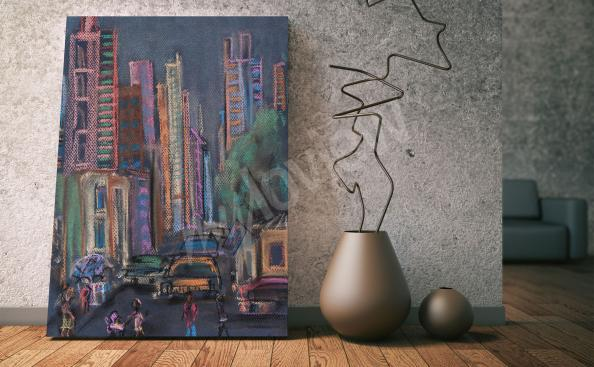 Color canvas print of new york