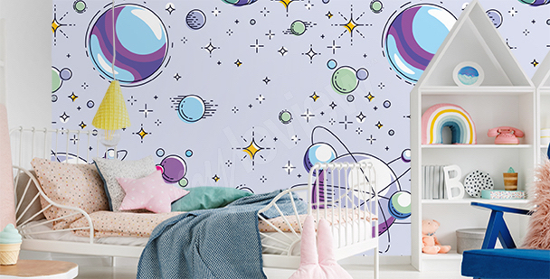 Colorful child's room mural