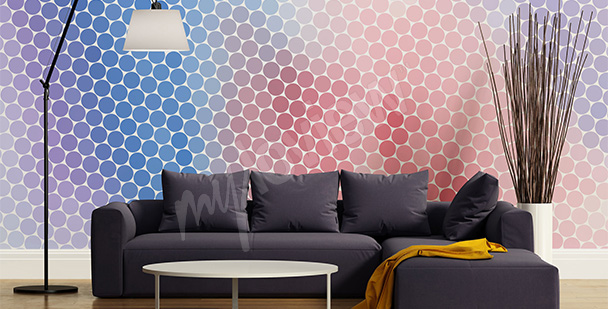 Colorful circles mural