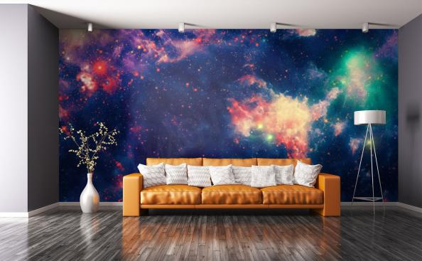 Colorful nebula mural