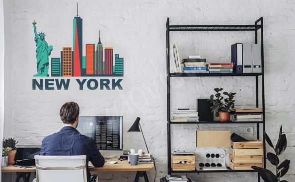 Colorful New York sticker