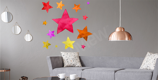 Colorful star sticker