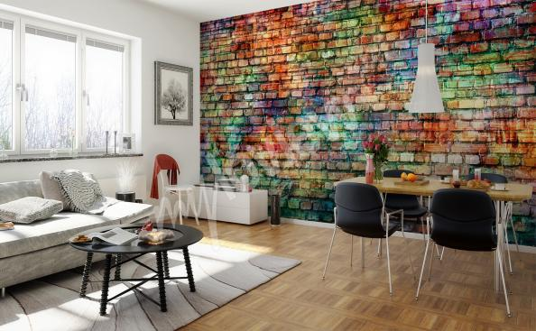 Colorful wall mural