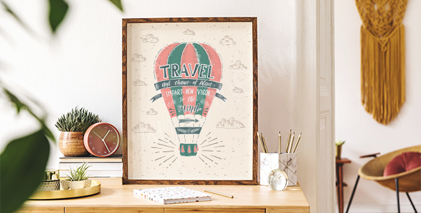 Colourful balloon poster
