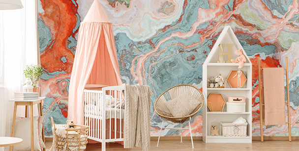 Colourful child's room mural