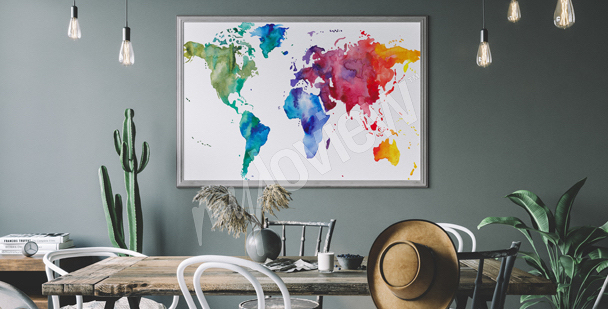 Colourful dining room poster