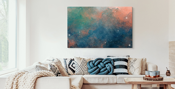 Colourful galaxy canvas print