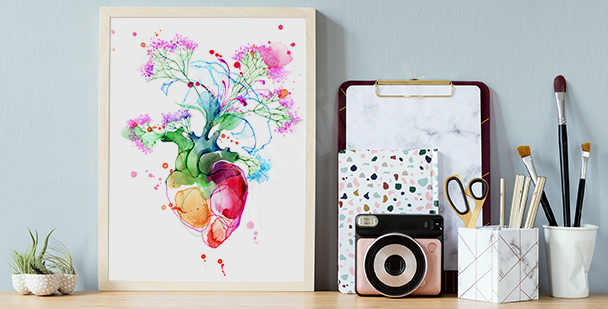 Colourful heart poster