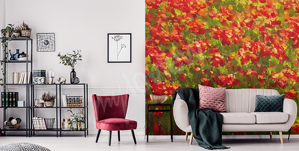 Colourful meadow wall mural