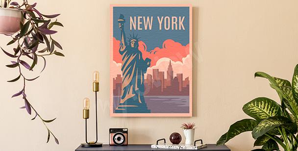 Colourful New York canvas print