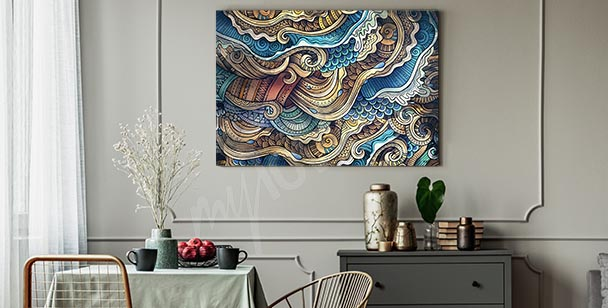Colourful ornament canvas print