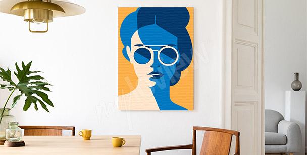 Colourful retro canvas print