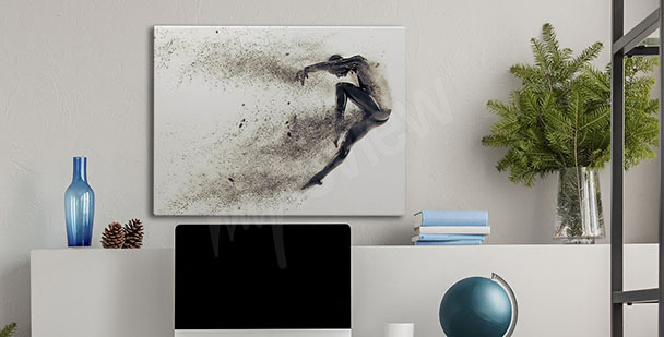 Competitive sport canvas print
