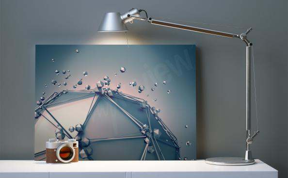Creative 3D canvas print in office