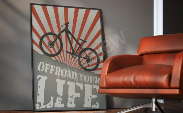 Cycling poster for a teenager's room