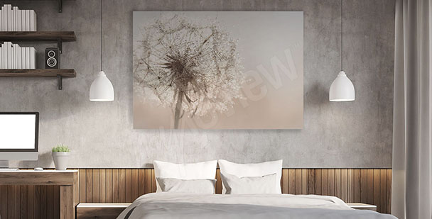 Dandelion canvas print for bedroom
