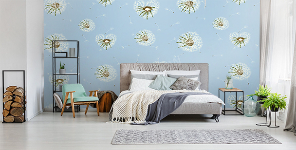 Dandelion mural for the bedroom