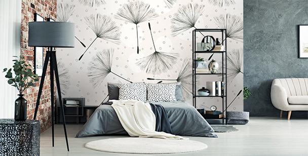 Dandelion seeds mural
