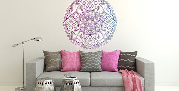 Decorative mandala sticker