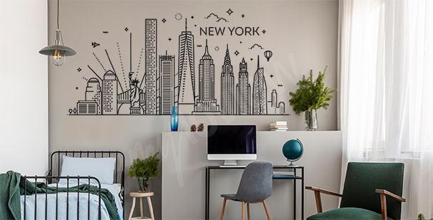 Decorative New York sticker