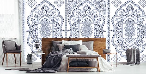 Delicate ornamental mural