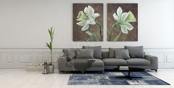 Diptych canvas print for living room