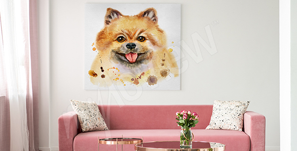 Dog canvas print for the living room
