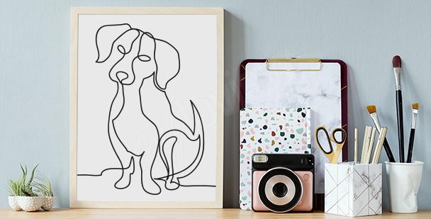 Dog sketch poster