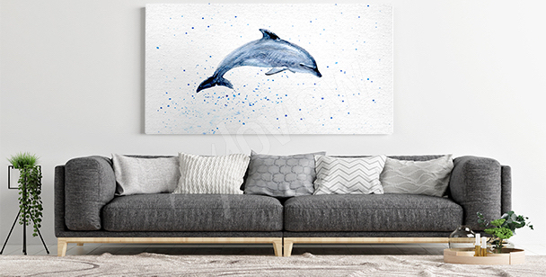 Dolphin canvas print for the living room