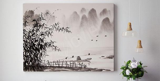 Eastern landscape canvas print
