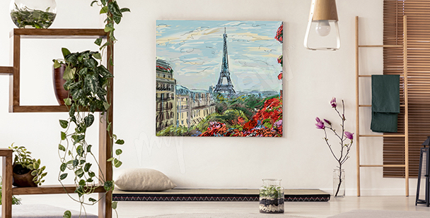 Vintage Paris canvas print