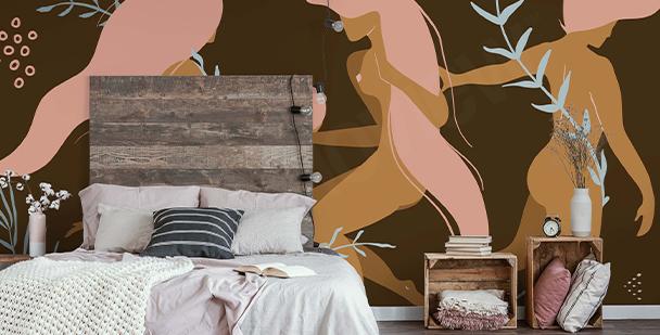Erotic female wall mural