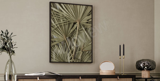 Exotic leaves poster