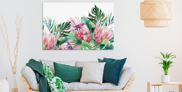 Exotic plants canvas print