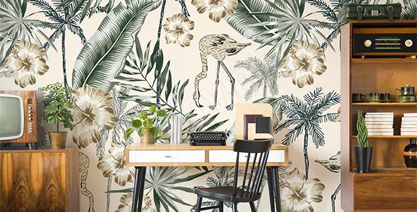 Exotic print mural
