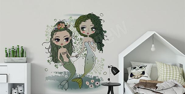 Fairy-tale mermaids sticker