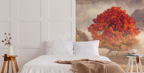 Fall landscape mural
